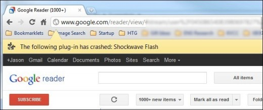 Chrome Shockwave Flash Crash