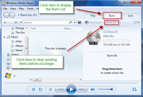 How to Burn CDs and DVDs in Windows Media Player 12 - hiTechMV